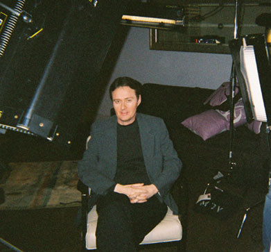 Bruce prepares to be interviewed for the Warner Brothers DVD documentary on the making of the film classic Ben Hur.